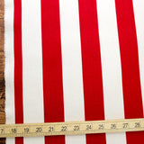 Sevenberry Large Wide Stripes #11 Canvas - Red - 50cm