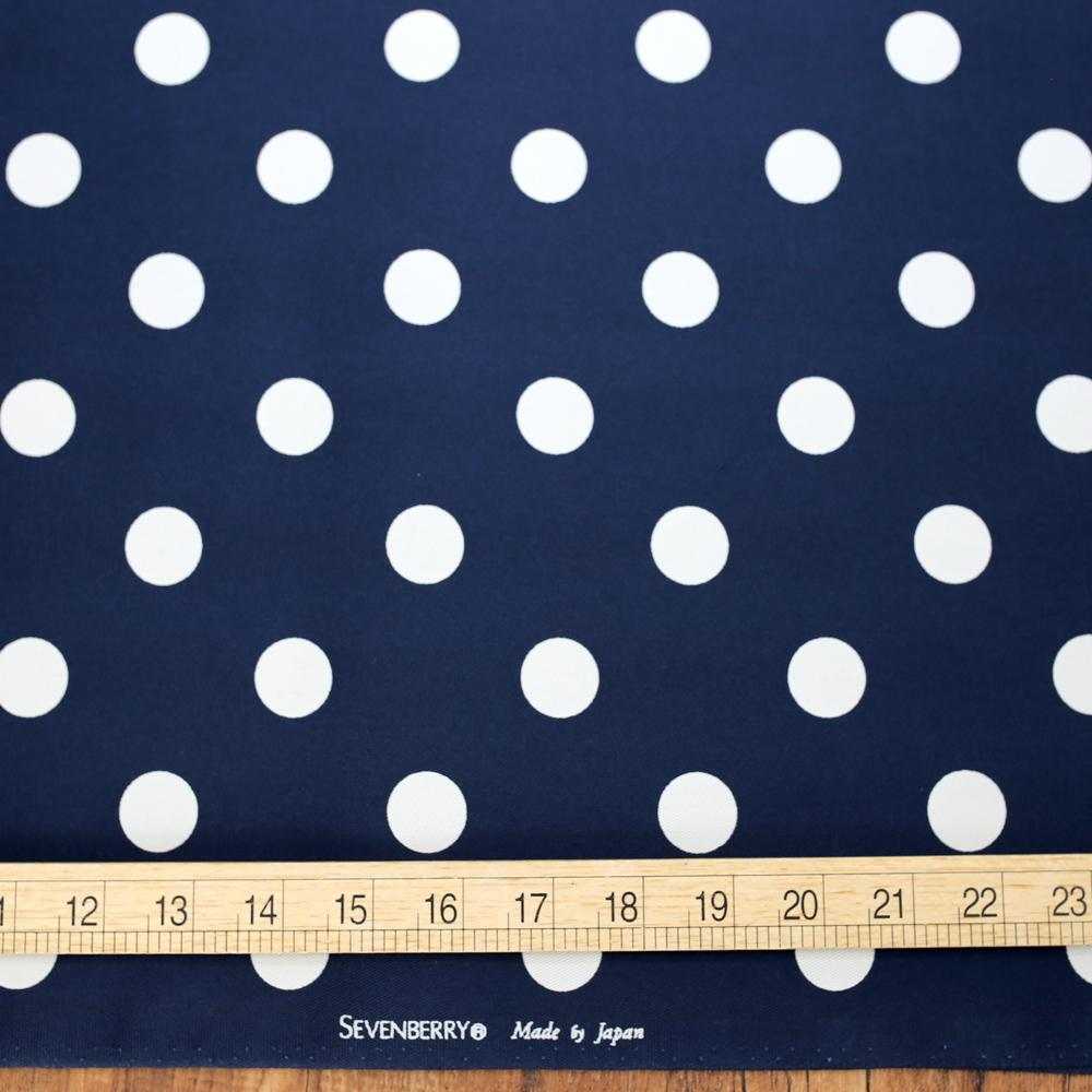 Sevenberry Medium Polka Dots Cotton Twill - Navy - 50cm