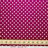 Sevenberry Small Polka Dots Cotton Linen Canvas - Metallic Magenta - 50cm