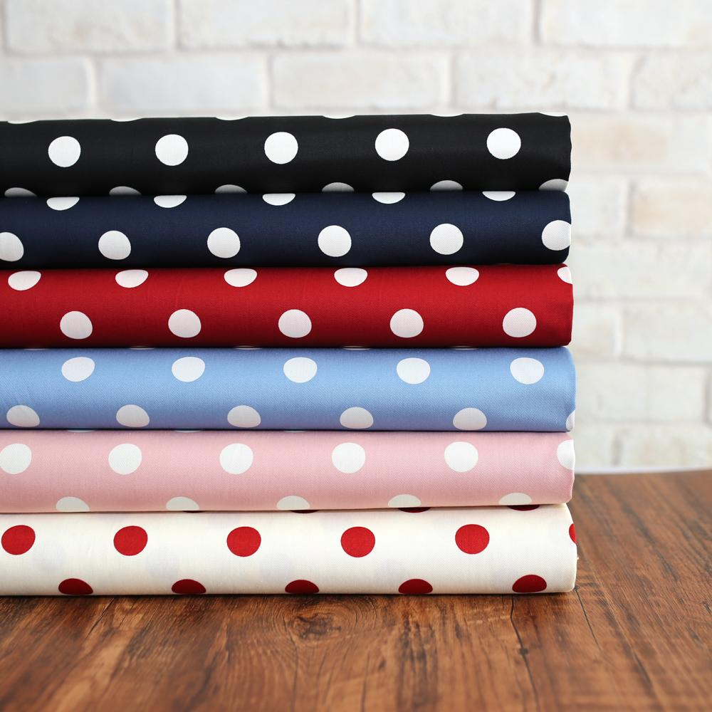 Sevenberry Medium Polka Dots Cotton Twill - Red - 50cm