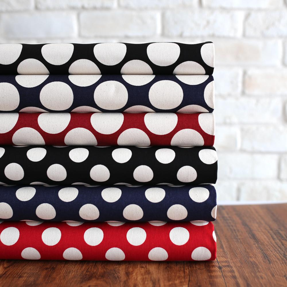 Sevenberry Large Polka Dots #11 Canvas - Navy - 50cm