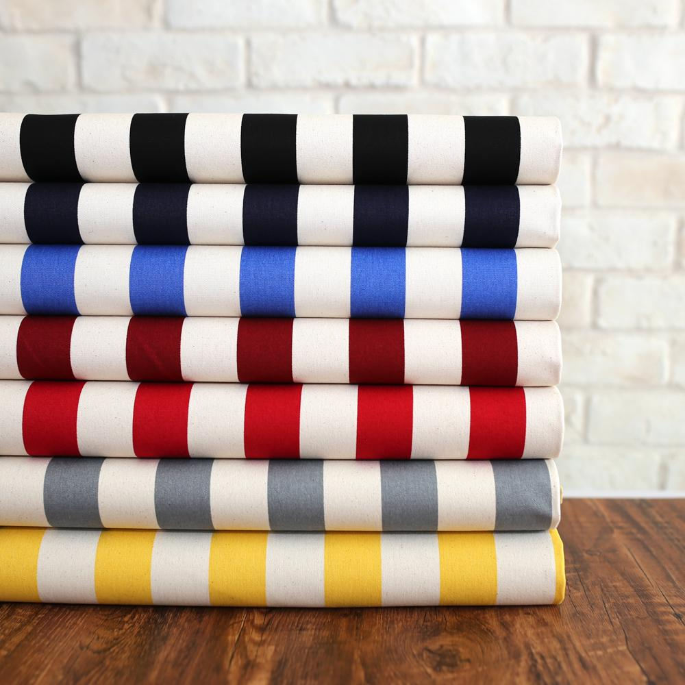 Sevenberry Large Wide Stripes #11 Canvas - Yellow - 50cm