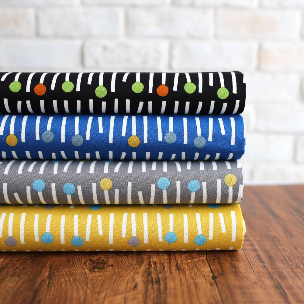 Sevenberry Scandinavian Matches Cotton Oxford Canvas - Grey - Fat Quarter