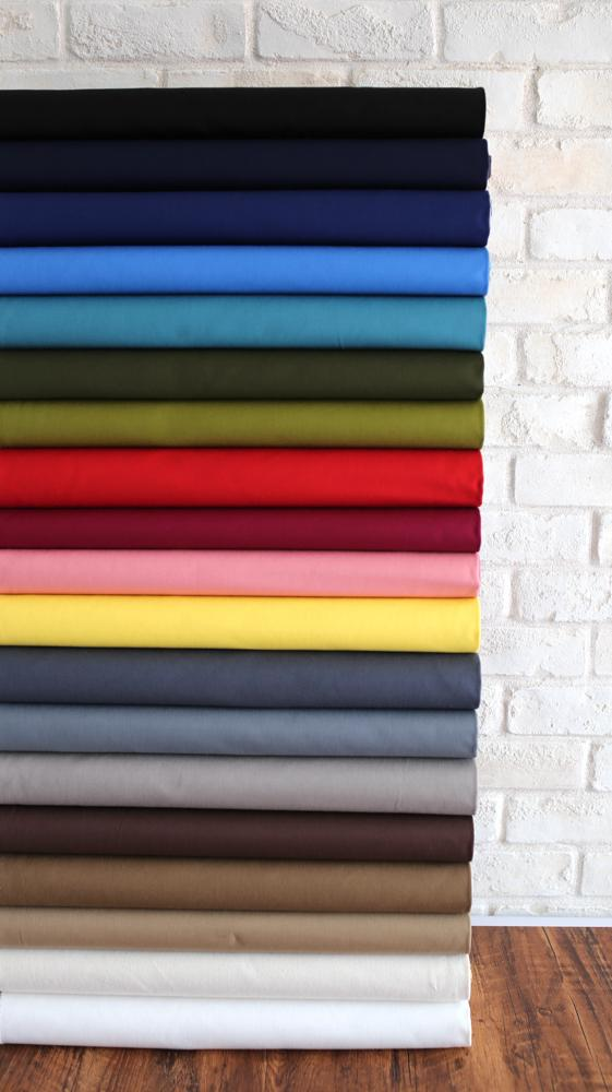 Sevenberry Solid Colours Canvas Bundle - 19 colours x FQ each colour