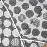 Kokka Dots Reversible Brushed Soft Jacquard - Grey - 50cm