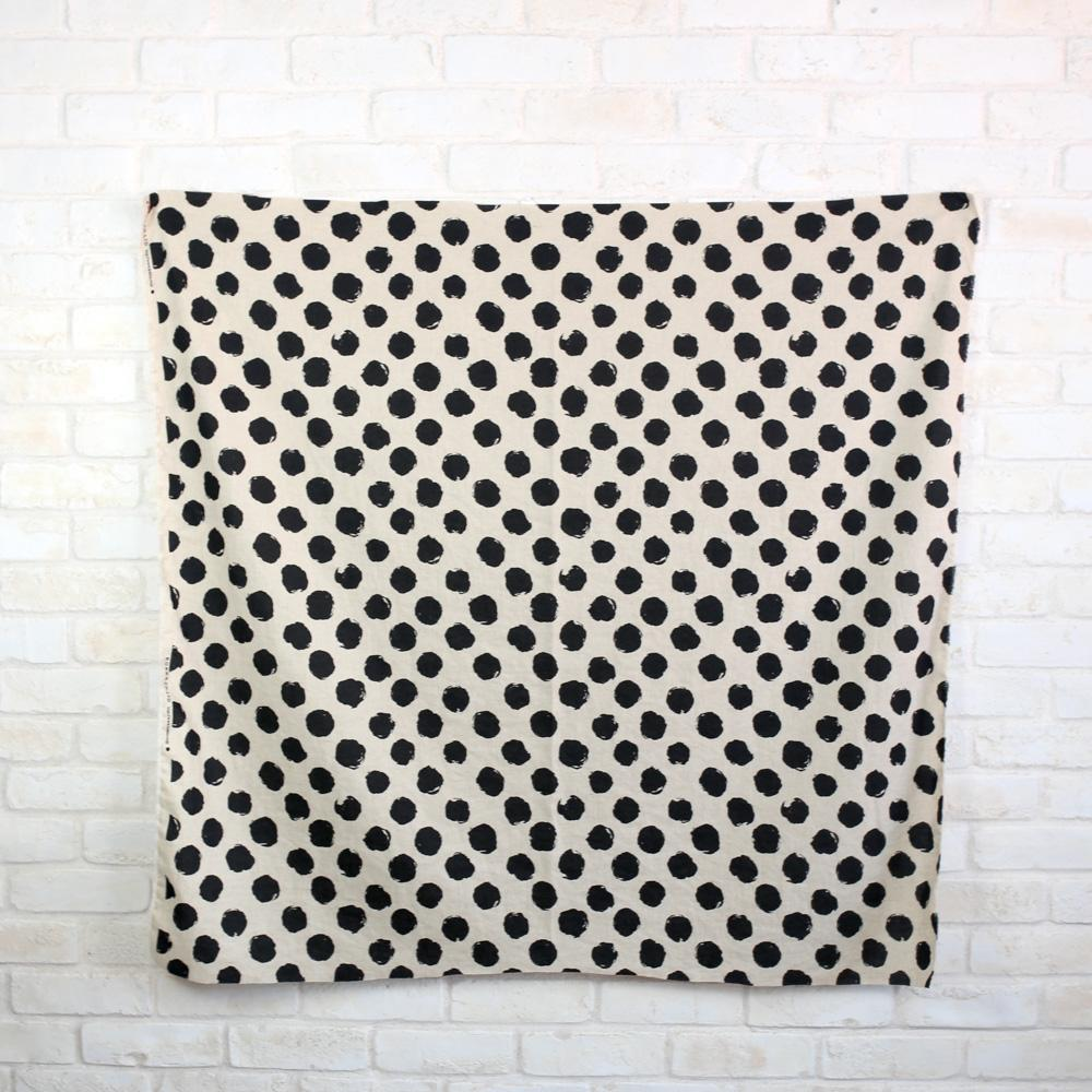 Kokka Cotton Linen Large Dots - Beige - 50cm