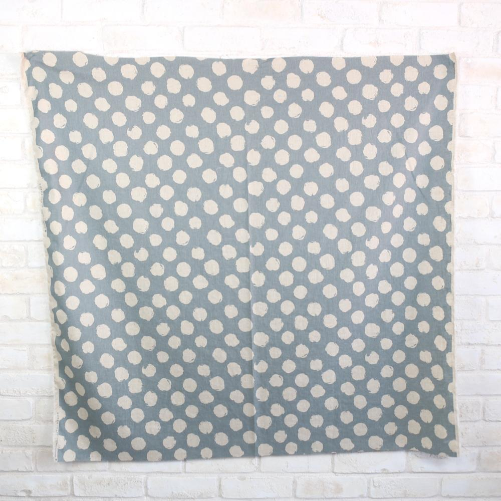 Kokka Cotton Linen Large Dots - Light Blue - 50cm
