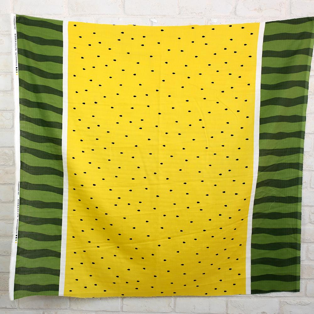 Kokka Watermelon Double Gauze - Yellow - 50cm