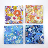 Kokka Floral 5 Large Daisies Cotton Lawn Bundle - 4 x Fat Quarters