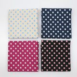 Sevenberry Small Polka Dots Cotton Linen Canvas Bundle - 4 x Fat Quarters