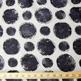 Kokka Textile Painted Large Dots - Cotton Viera - Beige Black - 50cm
