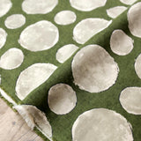 Kokka Textile Painted Large Dots - Cotton Viera - Green - 50cm