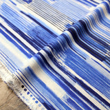 Kokka Abstract Stripes  - Cotton Linen Sheeting - Blue - 50cm