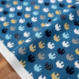 Cosmo Birds - Cotton Sheeting - Navy - 50cm