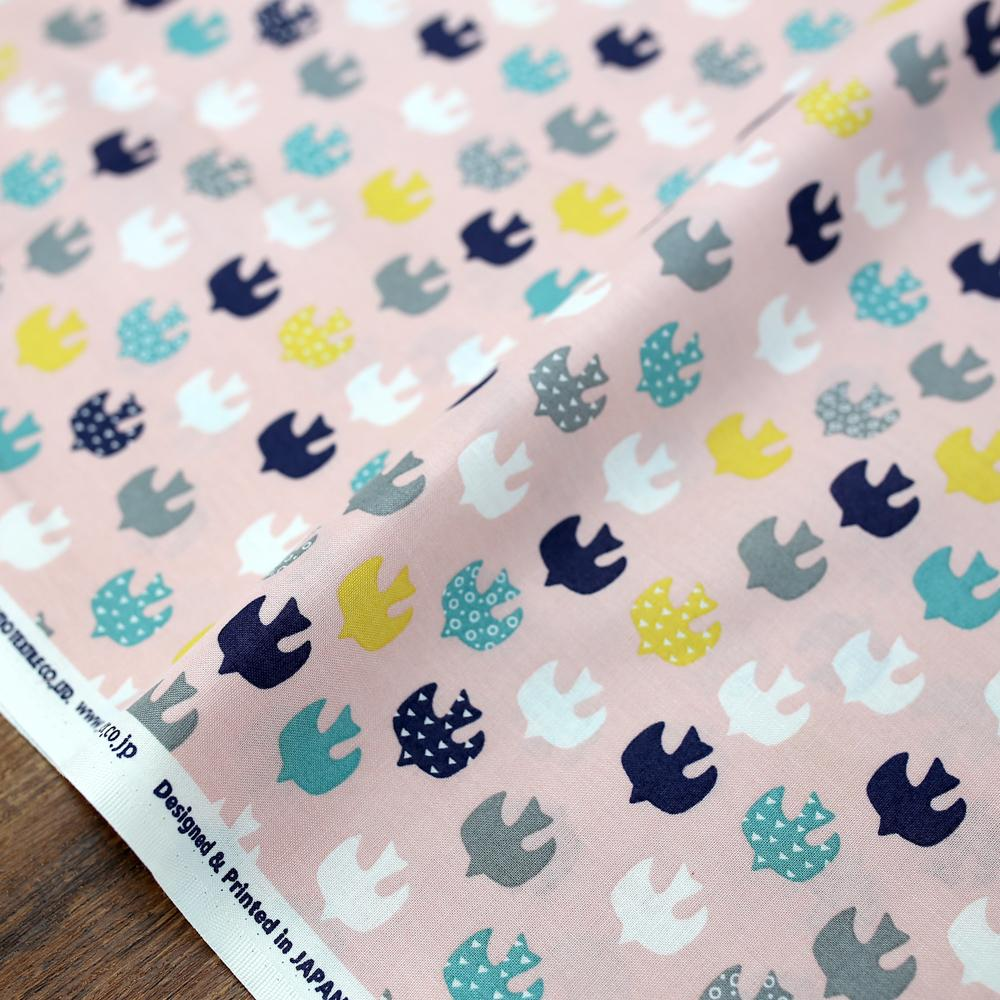 Cosmo Birds - Cotton Sheeting - Pink - 50cm