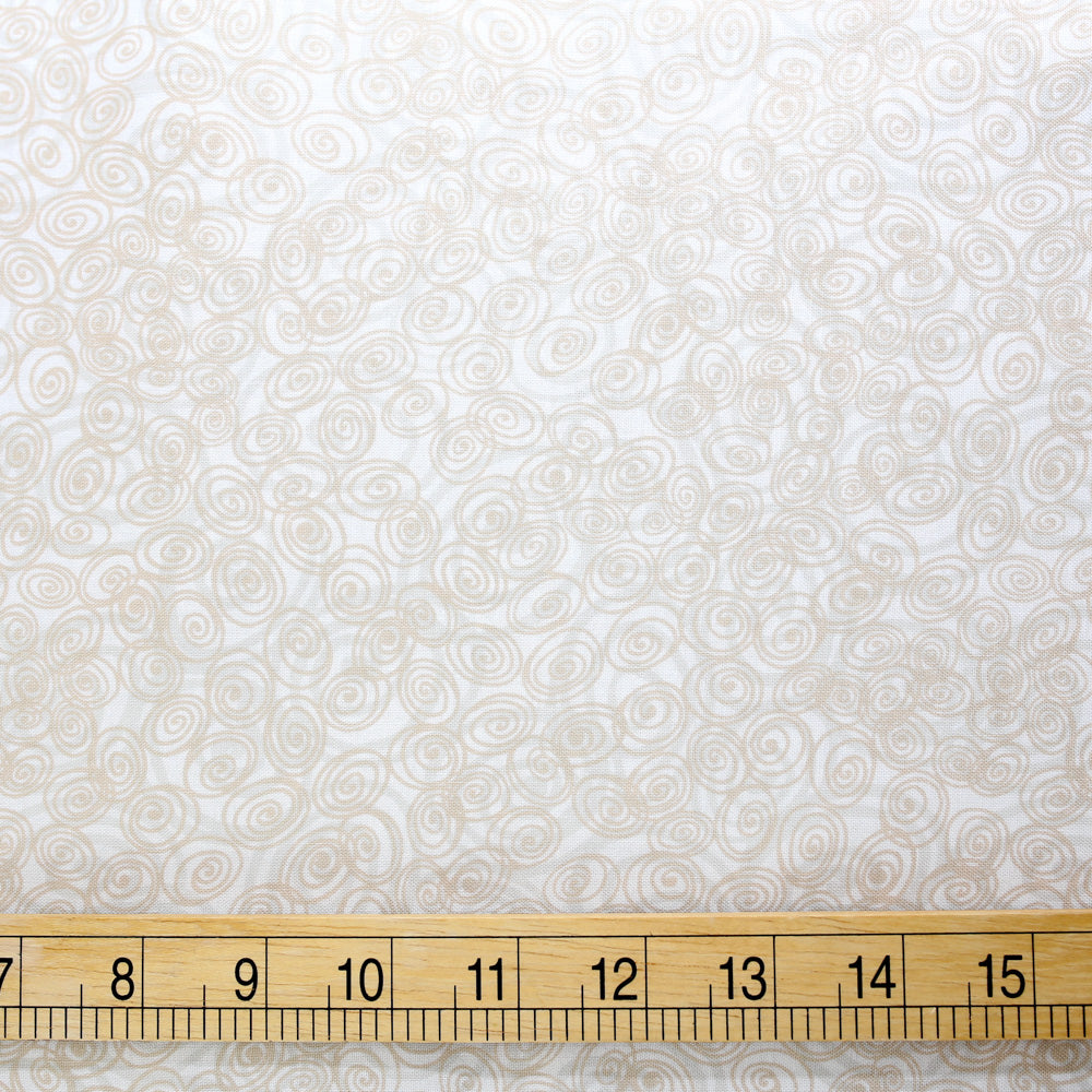 Cotton + Steel Flower Doodles Rosette - Natural - Cotton - Half Yard