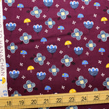 Cotton + Steel Fuwafuwa-san no Bokujo Kinoko to Hana-chan - Crushed Berries - Cotton - Half Yard