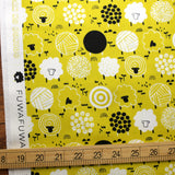 Cotton + Steel Fuwafuwa-san no Bokujo Fuwafuwa-san - Lemon Lime - Cotton - Half Yard