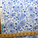 Cotton + Steel Across the Universe Web Attack Cotton - Periwinkle - Half Yard