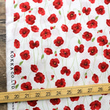 Kokka Floral Organic Cotton Lawn - Red - 50cm