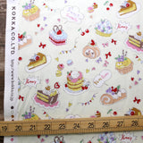 Kokka Yummy Fabric Cakes - Cotton Sheeting - Beige - 50cm