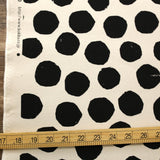 Kokka Nine Five Dots Sail Cloth - Cotton Canvas - Beige Black - 50cm
