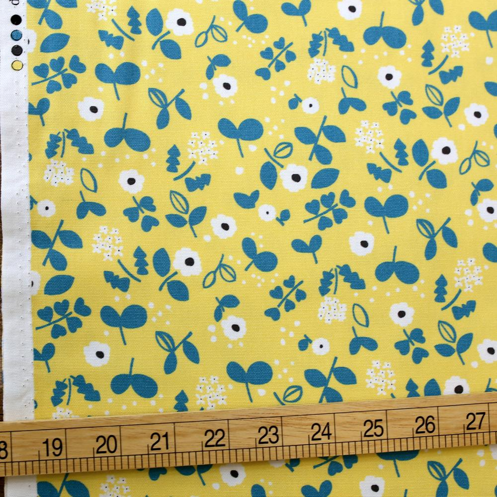 Kokka Petit Amis Floral - Cotton Oxford - Yellow - 50cm