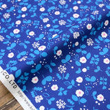 Kokka Petit Amis Floral - Cotton Oxford - Blue - 50cm