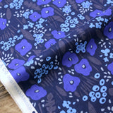 Kokka Floral - Cotton Compass Lawn - Blue - 50cm