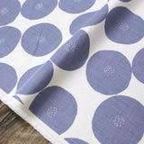 Kokka Muddy Works by Tomotake Anpan - Mortley Cross Soft Canvas - Grey Blue - 50cm