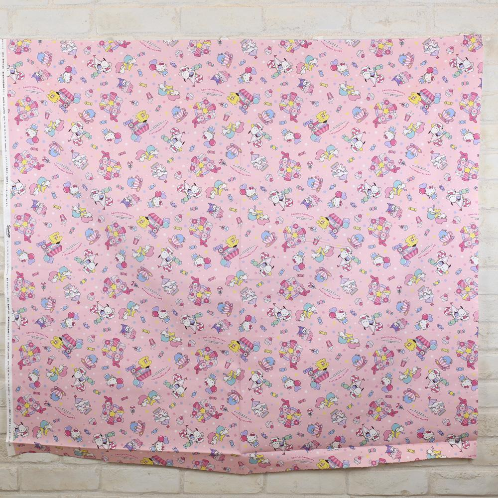 Sanrio Hello Kitty and Friends Collage - Cotton Canvas Oxford - Pink - Fat Quarter