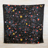 Nani IRO Kokka A/W 2020 Jardin I Brushed Cotton Linen - Black C - 50cm