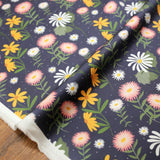 Nerida Hansen Christie Williams Native Daisy Dark - Cotton Sateen - 50cm