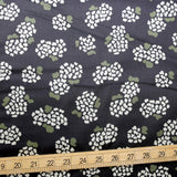 Kokka Muddy Works by Tomotake Floral - Cotton Sateen - Black - 50cm