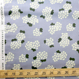 Kokka Muddy Works by Tomotake Floral - Cotton Sateen - Blue - 50cm