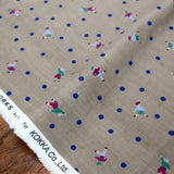 Kokka Muddy Works by Tomotake Dots - Double Gauze - Grey - Fat Quarter
