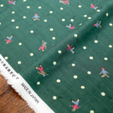 Kokka Muddy Works by Tomotake Dots - Double Gauze - Green - 50cm