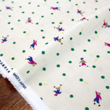 Kokka Muddy Works by Tomotake Dots - Double Gauze - Beige Green - Fat Quarter