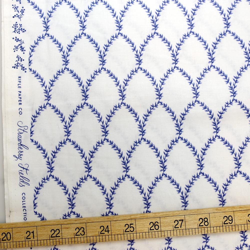 Cotton + Steel Rifle Paper Co Strawberry Fields Laurel Cotton - Periwinkle - Half Yard