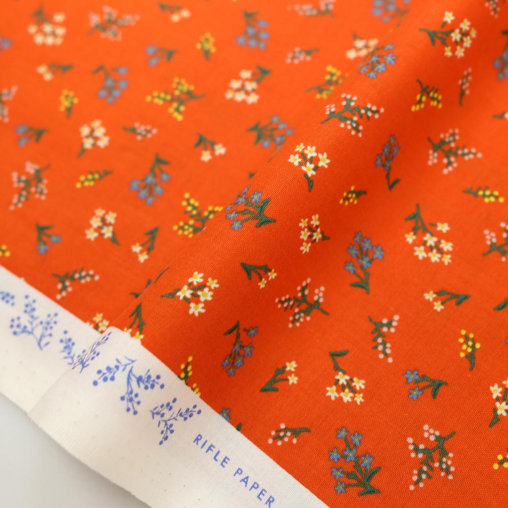 Cotton + Steel Rifle Paper Co Strawberry Fields Petites Fleurs Cotton - Rifle Red - Half Yard