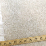 Cotton + Steel Rifle Paper Co Basics Menagerie Champagne Cotton - Linen - Half Yard