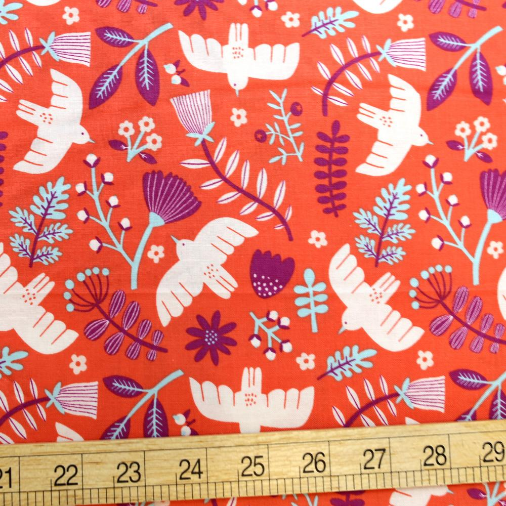 Cotton + Steel Marbella Cotton Free as a Bird Cotton - Jeweled Peach - Half Yard