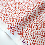 Cotton + Steel Marbella Cotton Guijarro - Tomato Red - Fat Quarter