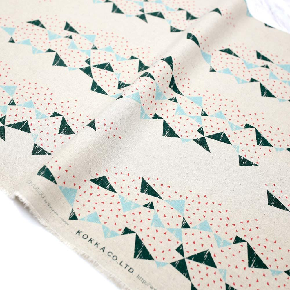 Kokka Tayutou Triangles Canvas - natural - 50cm