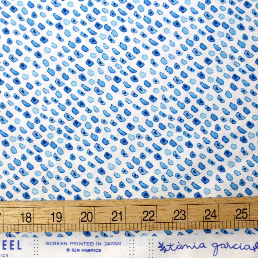 Cotton + Steel Marbella Cotton Guijarro - Ocean - Fat Quarter