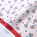 Cotton + Steel Summer Skies Fox Friends Cotton - Blush - Fat Quarter