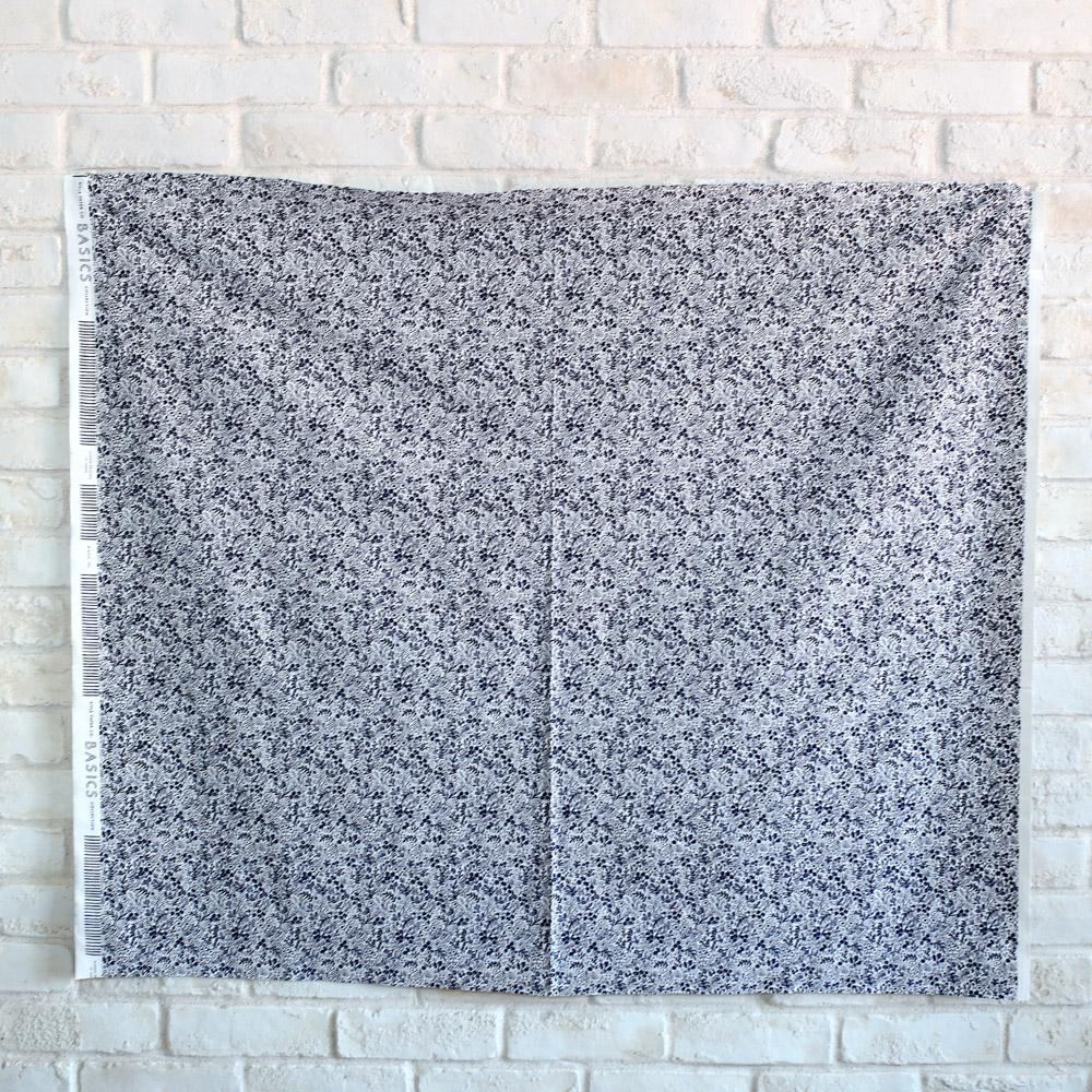 Cotton + Steel Rifle Paper Co Basics Tapestry Lace Cotton - Navy - Half Yard