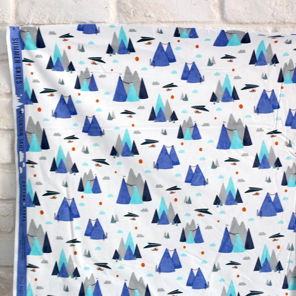 Cotton + Steel Summer Skies Mountain Skies Cotton - Aqua - Fat Quarter