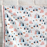Cotton + Steel Summer Skies Mountain Skies Cotton - Blush - Fat Quarter