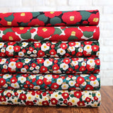 Kobayashi Tsubaki Camilla Cotton Linen Canvas - Black - Fat Quarter